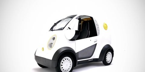 Honda and 3D-design specialist Kabuku designed and printed the body for this EV chassis in about two months.