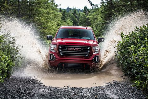 The 2019 GMC Sierra in action