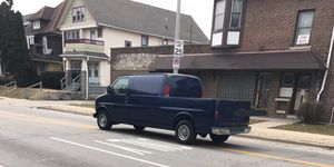 For what is probably a home-brew modification, this truck-ized Chevrolet Express van looks to be very clean.