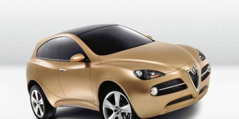 The last Alfa Romeo SUV concept was the Kamal, which was shown in 2003. Expect sharper bodywork as seen on the Brera hatch on the real thing.