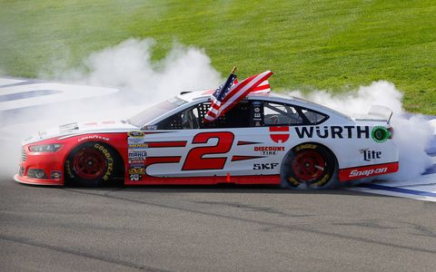 Images from Brad Keselowski's win for Ford and Team Penske at Auto Club Speedway in Fontana, Calif., on Sunday.