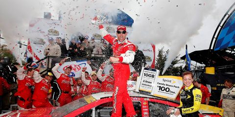 Kevin Harvick needed a victory to make the second round of the NASCAR Chase, and that's exactly what he got on Sunday at Dover.