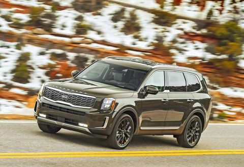 Though it's rated as a mid-sized SUV, the all-new Kia Telluride is big, both inside and out. Curb weights range from 4112 to 4482 pounds, depending on how you load them up with options.