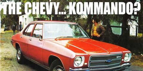 The Chevrolet Kommando was an impressive and ultimately successful badge-engineering exercise, at least until Opels replaced Chevys.
