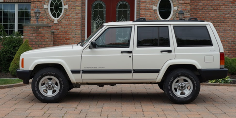 The 17-year-old Jeep Cherokee XJ John Sharkey found has only 4,400 miles and, aside from some dust, looks like it just rolled off the assembly line.