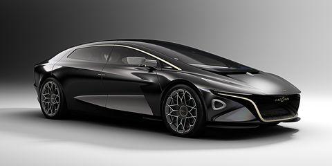 The Lagonda Vision Concept imagines an electric luxury car with advanced autonomous driving features.