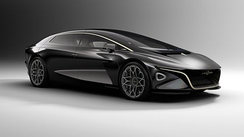 The Lagonda Vision Concept imagines an electric luxury car with advanced autonomous driving features.
