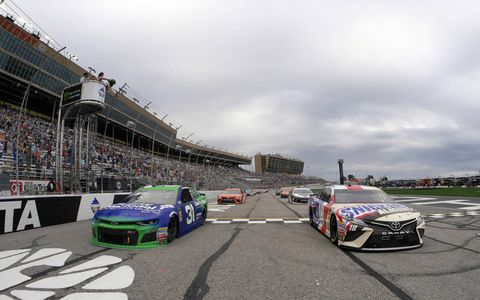 Sights from the Monster Energy NASCAR Cup Series action at Atlanta Motor Speedway, Sunday, Feb. 25, 2018