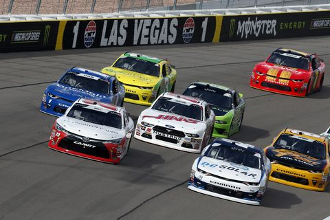 Sights from the NASCAR action at Las Vegas Motor Speedway, Saturday, Mar. 3, 2018.
