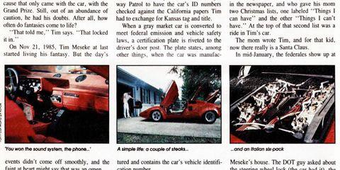 Tim Meseke enjoying the Lamborghini Lifestyle -- while it lasts