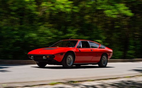 The Lamborghini Urraco exudes cool.