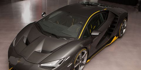 The new Lamborghini Centenario is the most powerful Lamborghini ever made producing 770 hp from its 6.5-liter V12