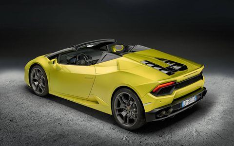 The Huracan LP 580-2 Coupe will drop its top just in time for January in tropical climates.