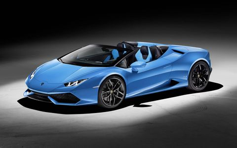Lamborghini unveiled the Huracán Spyder LP 610-4 at the 2015 Frankfurt motor show. The successor to the popular Gallardo Spyder, the Huracán Spyder gets all-wheel drive, a 5.2-liter naturally aspirated V10 and a cloth convertible top.
