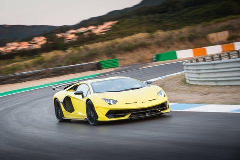 The 2019 Lamborghini Aventador SVJ on Circuito Do Estoril, the former F1 track in Portugal