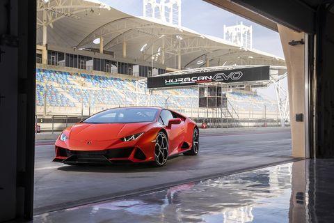 2020 Lamborghini Huracan Evo captured in the pits