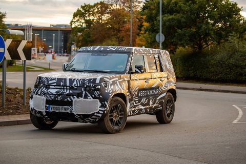 Look beyond the camouflage, and you'll get your best look yet at the replacement for the Land Rover Defender. The upcoming Defender, which appears to have switched over to all-around independent suspension, won't be a retro-themed reincarnation of the rugged truck it replaces, but we expect it to retain stylistic nods to its predecessor.