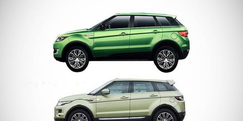 Guess which one of these is the actual Evoque. The Landwind X7 debuted at the Guangzhou motor show in November of 2014.