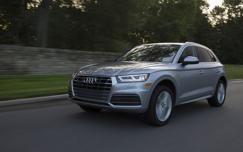 The 2018 Audi Q5 comes with a 252-hp turbocharged I4 and a seven-speed dual-clutch transmission.