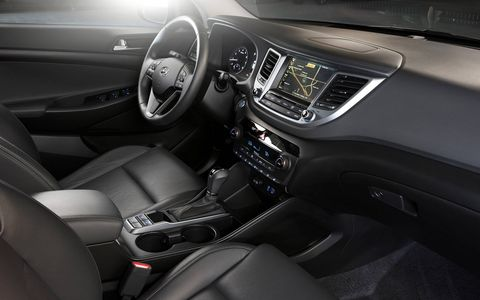 The 2017 Hyundai Tucson Night comes with aluminum-alloy sport pedals, front and rear LED maplights and is available in Coliseum gray, Caribbean blue, dazzling white and black noir pearl exterior colors.