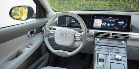 A look inside the 2019 Hyundai NEXO fuel cell vehicle