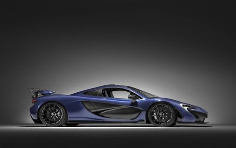 McLaren Special Operations crafted a Lio Blue tinted bare carbon fiber P1 for the Geneva motor show.