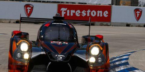 Katherine Legge and Oswaldo Negri are sharing the No. 60 Honda HPD Ligier JS P2 this weekend in Detroit.