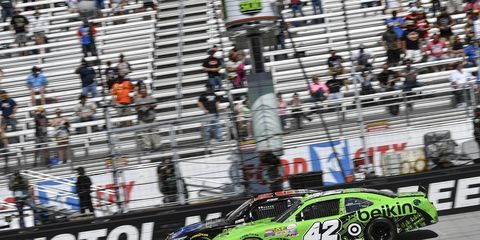 Erik Jones did well on the final restart to pull ahead and win Saturday's NASCAR Xfinity race.