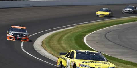 Matt Kenseth, shown racing in Indiana last week, isn't keen on the idea of racing for points. For him, it's all about the win.