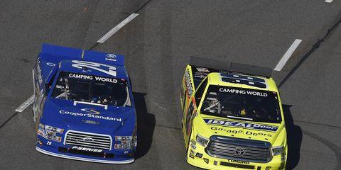 Ryan Blaney and Matt Crafton have been battling for the NASCAR Trucks championship all season.