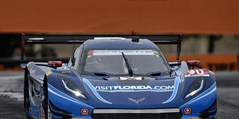 Richard Wesbrook brought his Chevrolet Corvette DP across the finish line first on Sunday at Mazda Raceway Laguna Seca.