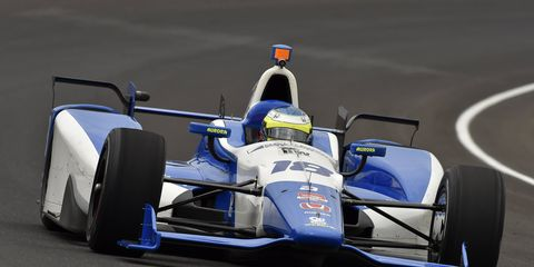 Carlos Huertas qualified 18th for this year's Indianapolis 500.