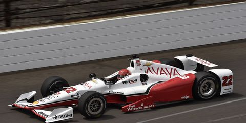 Simon Pagenaud posted a lap of 228.793 mph at Indianapolis on Thursday.