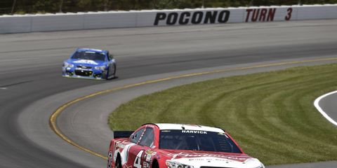 Kevin Harvick has finished in second place in eight of the first 14 NASCAR Sprint Cup races this season.