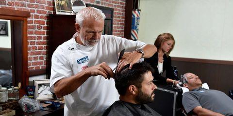 Steve Ellsworth was Dale Earnhardt's longtime barber. A few weeks ago at Michigan International Speedway, Suave Men brought Ellsworth and Dale Earnhardt Jr. together.