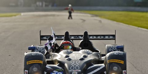 The No. 52 PR1/Mathiasen Cuttwood Prototype Challenge car of Tom Kimber-Smith and Mike Guasch took the checkered flag on Saturday at Lime Rock in the Tudor Championship.