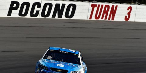 Kasey Kahne was not the only driver to find turn three to be a hazard at Pocono Raceway this weekend.