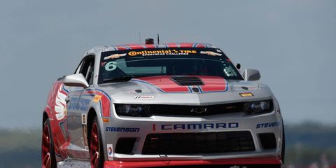 Robin Liddell and Andrew Davis piloted their Chevy Camaro to a 1.292-second victory at Circuit of the Americas in Austin, Texas, on Friday.