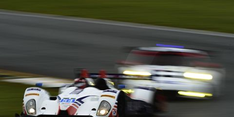 A photo from last year's race shows the intensity of Petit Le Mans. This year's race will take place this weekend.