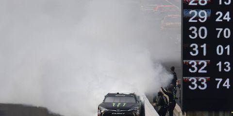 Kyle Busch won Saturday's Xfinity race at Indianapolis.