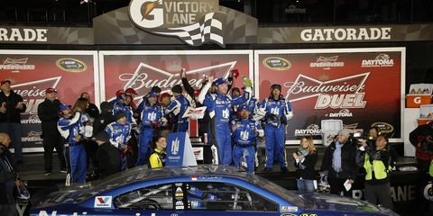 Dale Earnhardt Jr. hopes that Thursday's trip to victory lane is just part of a big weekend in Daytona.