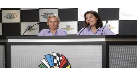Last May, Grace Autosport team principal Beth Paretta and driver Katherine Legge met with the media at Indianapolis Motor Speedway. On Wednesday, it was announced the team would not compete in the Indy 500.