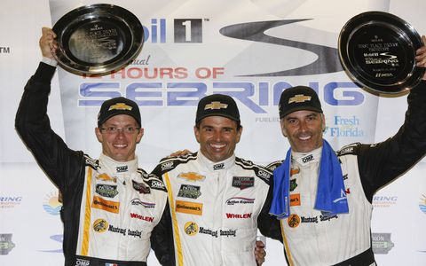 The overall winners at Sebring were the Chevrolet Corvette DP drivers of Action Express: Joao Barbosa, Christian Fittipaldi and Sebastien Bourdais.
