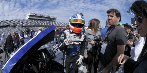Michael Shank Racing's Ozz Negri prepares for the 2014 24 Hours of Daytona. In 2015, the team will have a new technical partner in Honda.