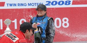 Danica Patrick celebrated an IndyCar win in Japan in 2008. The series last raced there in 2011.