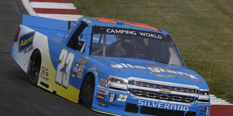 Spencer Gallagher apologized Monday for an altercation with John Wes Townley during Sunday's NASCAR Camping World Truck Series race.