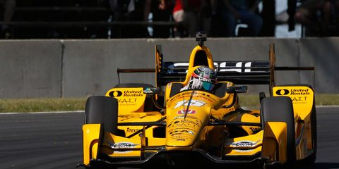 Graham Rahal turned a lap with an average speed of 140.265 mph on Friday at Road America to lead all drivers.