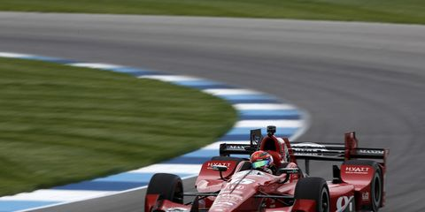 Graham Rahal, shown, and Josef Newgarden were both penalized after failing post-qualifying inspection for the Grand Prix of Indianapolis.