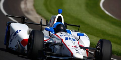 2015 Indianapolis 500 rookie of the year Gabby Chaves was quickest in practice at Indianapolis Motor Speedway on Thursday with an average speed of 227.961 mph.