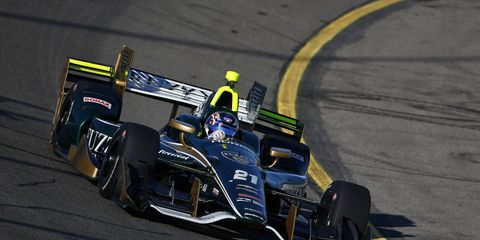 Josef Newgarden raced to victory Sunday at Iowa.